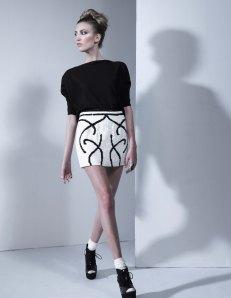 Scroll Work Sequin Skirt, Miita Collection