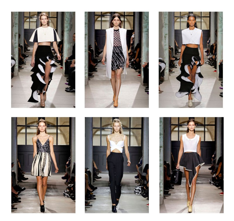 BALENCIAGA SPRING/SUMMER 2013Attention, you must have long, skinny, lean legs to wear most of these looks..!