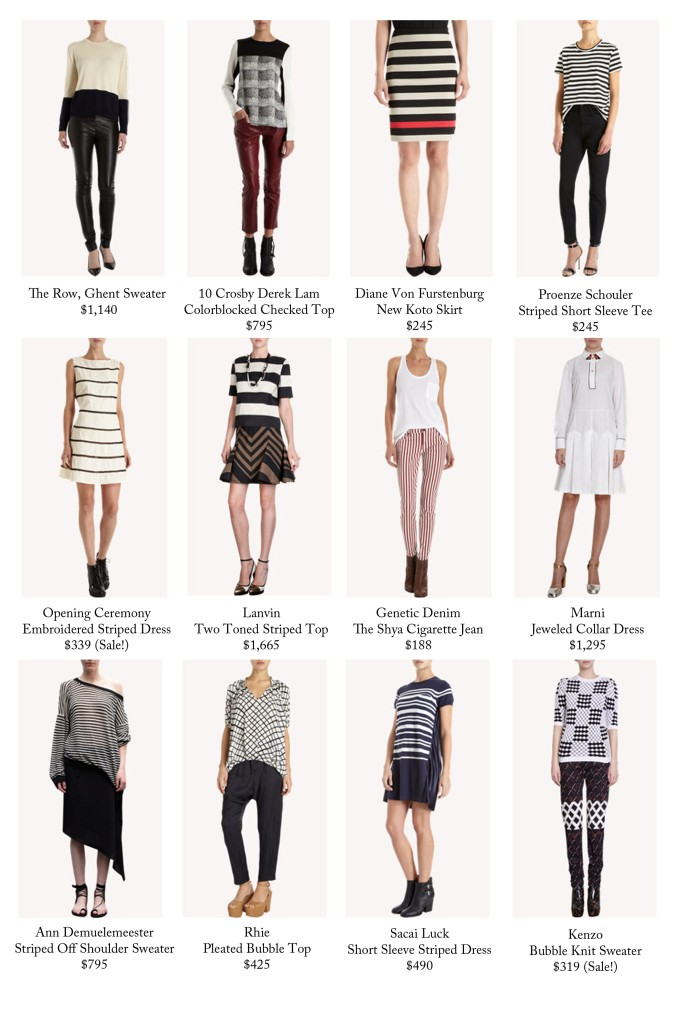 If you're an avid shopper on a Socialite's Budget (basically meaning, no budget at all), then check out these Stripes and alikes at Barney's.