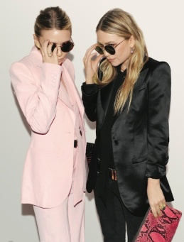 Mary Kate and Ashley Olsen  (Not sure who's who in this pic, sorry ladies..)