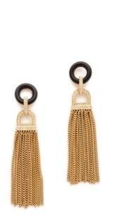SHOPBOP, Rachel Zoe, Onyx Tassel Earring, $250