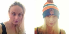 Before and After in Vintage NY Mets Beanie