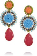 NET-A-PORTER, Erickson Beamon, I Never Promised You a Rose Garden Earrings, $415